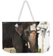 Lakshmi Temple Elephant Weekender Tote Bag