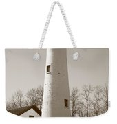 Lighthouse - Sturgeon Point Michigan Weekender Tote Bag