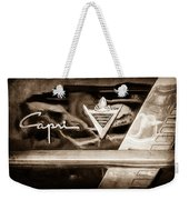 Lincoln Capri Emblem Weekender Tote Bag