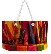 Multi Colored Paint Brushes Weekender Tote Bag