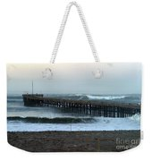 Ocean Wave Storm Pier Weekender Tote Bag