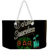 5 O'clock Somewhere Bar Weekender Tote Bag