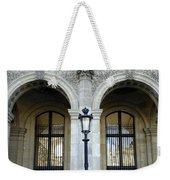 Ornate Architectural Artwork On The Buildings Of The Musee Du Louvre In Paris France Weekender Tote Bag