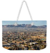 Panoramic View Of Skyline And Downtown Weekender Tote Bag