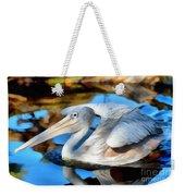 Pink Backed Pelican Weekender Tote Bag