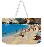 Porto Katsiki Beach In Lefkada Island Weekender Tote Bag