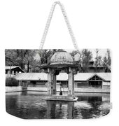 Premises Of The Hindu Temple At Mattan With A Water Pond Weekender Tote Bag
