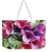 Pulmonaria Named Raspberry Splash Weekender Tote Bag