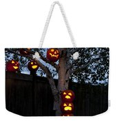 Pumpkin Escape Over Fence Weekender Tote Bag
