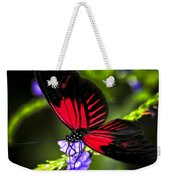 Red Heliconius Dora Butterfly Weekender Tote Bag