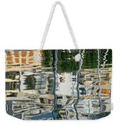 Reflections In Mikrolimano Port Weekender Tote Bag
