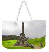 Replica Of Wooden Trebuchet And The Ruins Of The Urquhart Castle Weekender Tote Bag