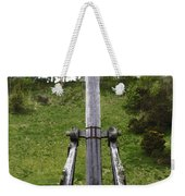 Replica Of Wooden Trebuchet On The Path Leading To The Urquhart Castle Weekender Tote Bag