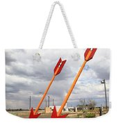 Route 66 - Twin Arrows Trading Post Weekender Tote Bag