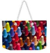 Rows Of Multicolored Crayons  Weekender Tote Bag