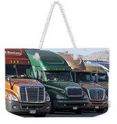 Semi Truck Fleet Weekender Tote Bag