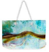 Shiny Nacre Of Paua Or Abalone Shell Background Weekender Tote Bag