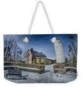 Snow Around Billy Graham Library After Winter Storm Weekender Tote Bag