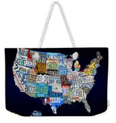 The Usa License Tag Map Weekender Tote Bag