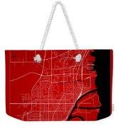 Thunder Bay Street Map - Thunder Bay Canada Road Map Art On Colo Weekender Tote Bag