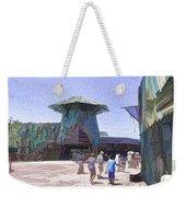 Visitors Heading Towards The Waterworld Attraction Weekender Tote Bag