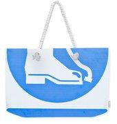Warning Sign Weekender Tote Bag