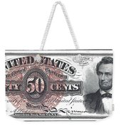 50 Cent Lincoln Bill  1863 Weekender Tote Bag