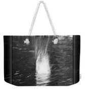 50 Shades Of Grey Abstract Black And White Painting Weekender Tote Bag