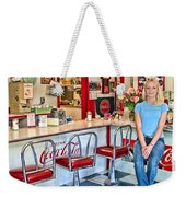 50s American Style Soda Fountain Weekender Tote Bag by David Smith