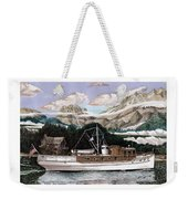 North To Alaska On A 53 Foot Classic Yacht  Weekender Tote Bag
