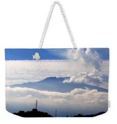 View Of Mt. Etna From Taormina Sicily Weekender Tote Bag