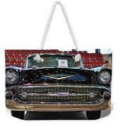 '57 Chevy Bel Air Show Car Weekender Tote Bag
