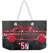 57 Chevy License Plate Art Weekender Tote Bag