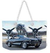1957 Chevrolet Corvette Weekender Tote Bag