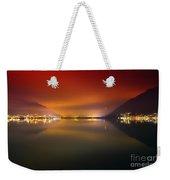 Alpine Lake At Night Weekender Tote Bag