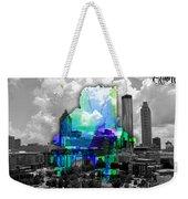 Atlanta Map And Skyline Watercolor Weekender Tote Bag