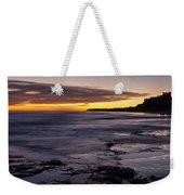 Bamburgh Castle At Sunrise Weekender Tote Bag