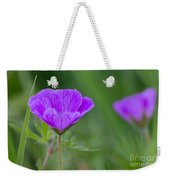 Bloody Geranium Wild Flower Weekender Tote Bag