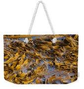 Bull Kelp Blades On Surface Background Texture Weekender Tote Bag