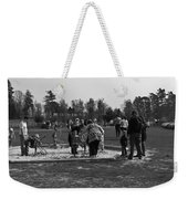 Children Playing Inside The Blair Drummond Safari Park Weekender Tote Bag