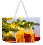 Christmas Tree Decorated With Presents Weekender Tote Bag