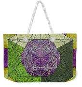 Dodecahedron In A Metatron's Cube Weekender Tote Bag