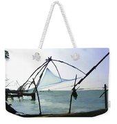 Fishing Nets On The Sea Coast In Alleppey Weekender Tote Bag
