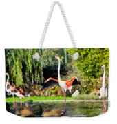 Greater Flamingos Weekender Tote Bag
