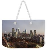 High Angle View Of A City Weekender Tote Bag