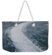 Ice Pattern On Frozen Abraham Lake Weekender Tote Bag