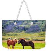 Icelandic Ponies Weekender Tote Bag