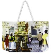 Inside The Historic Jewish Synagogue In Cochin Weekender Tote Bag