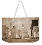 Manhattan Buildings Vintage Weekender Tote Bag