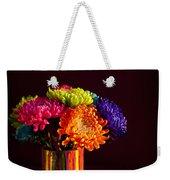 Multicolored Chrysanthemums In Paint Can Weekender Tote Bag